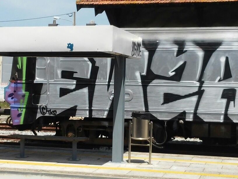 In a train by Fredy Miranda