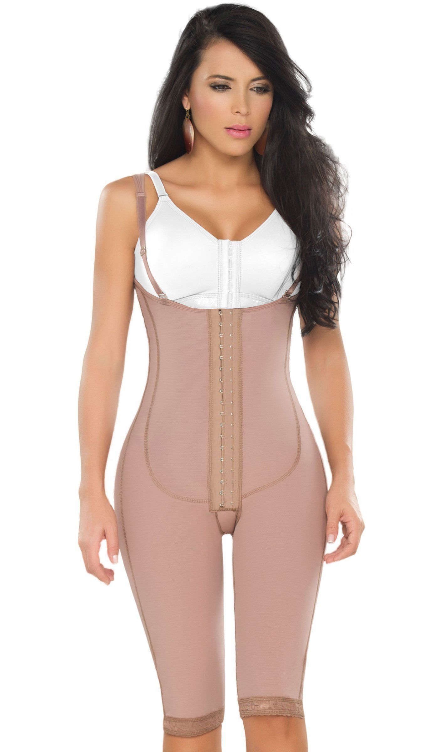 39a3d011c38 Fajas DPrada 11175 Braless Shapewear Post Surgery Compression Garment Girdle  - Cocoa-Optic - 3XL