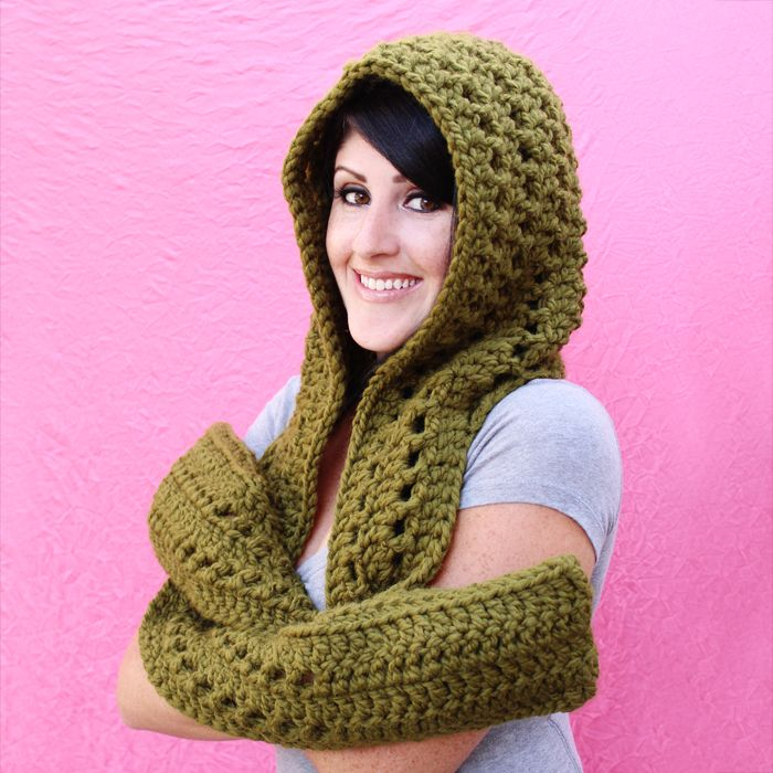 New Crochet Pattern: The Fireside Scoodie | Gleeful Things | neck ...