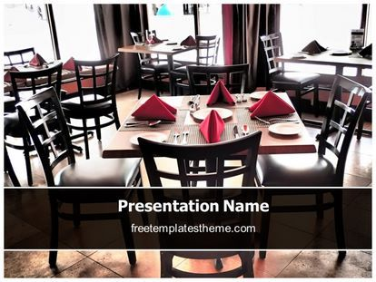 Get this #Free #Restaurant #PowerPoint #Template with different