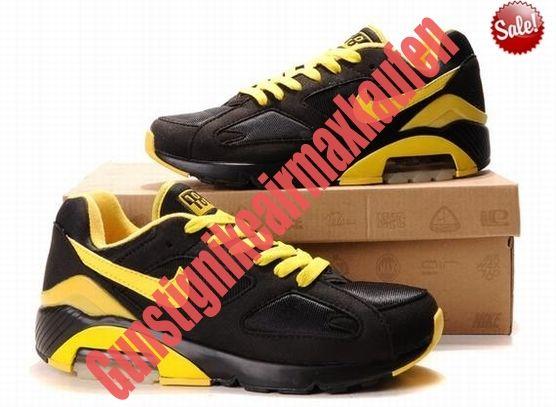 huge selection of 3a8a8 5e593 TLTG 3376768 2014 Nike Air Max 180 Schuhe Herren Schwarz Gelb