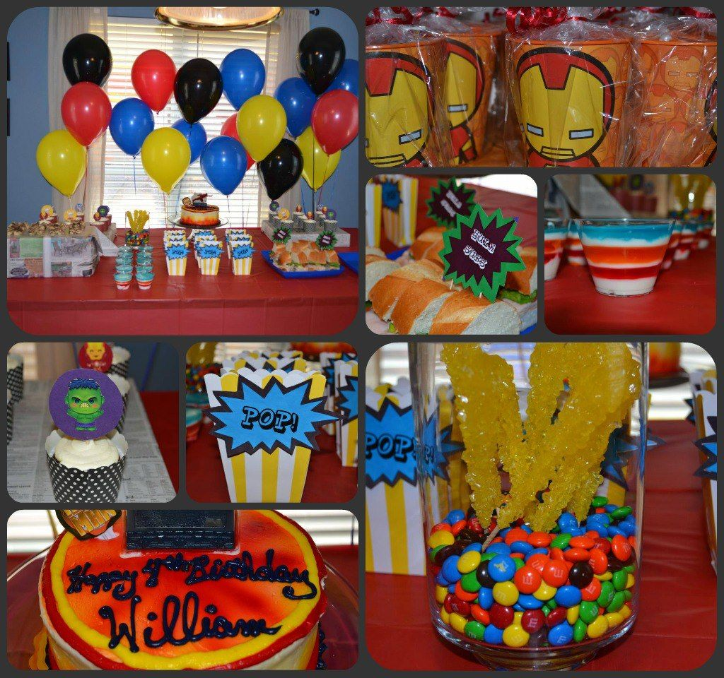 Avengers Themed Birthday Party 7th Birthday Party Ideas