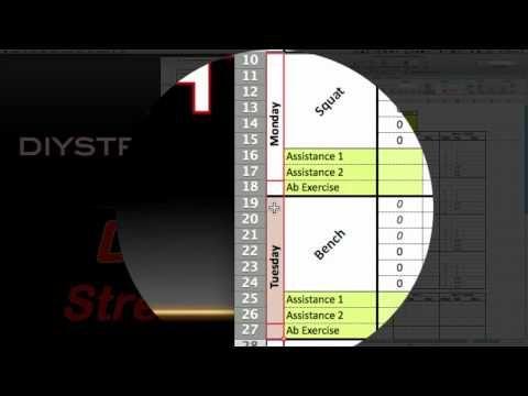 Jim Wendler 5-3-1 Workout Spreadsheet v11 Download at   - spreadsheet download