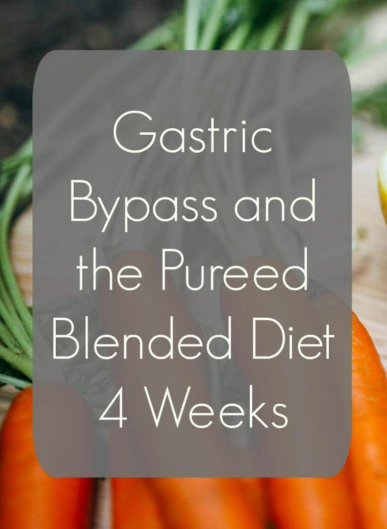 Gastric Bypass And The Pureed Blended Diet Bariatric