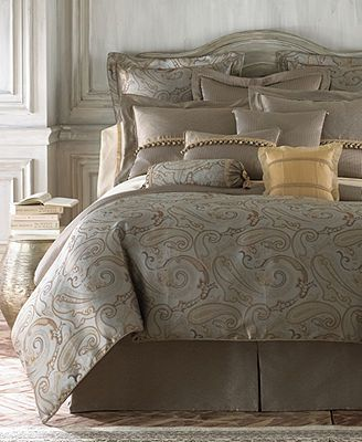 Waterford Bedding Farrell Collection Silver And Gold Bedding