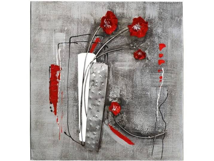 Bild Vase Mit Mohn Blumen Silber Flower Wall Decor Abstract Flowers Elephant Wall Decor