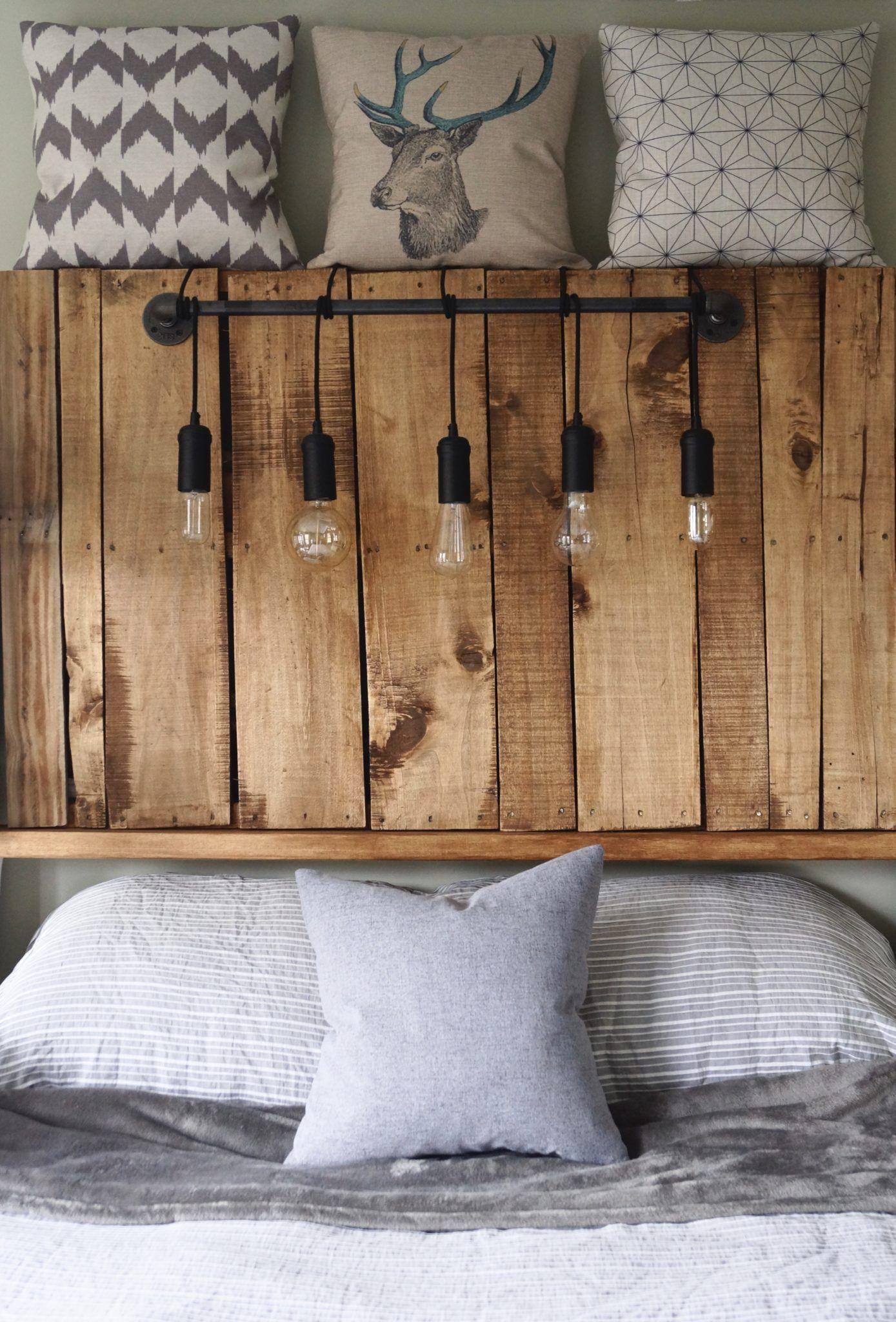 kopfteil f r bett aus europaletten selber bauen diy anleitung diy m bel apartment ideas. Black Bedroom Furniture Sets. Home Design Ideas