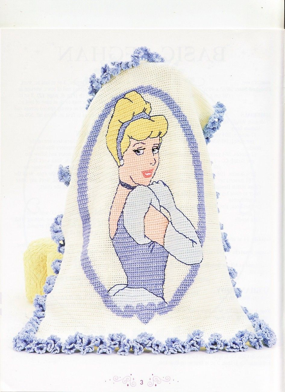 Disney Princess Afghans Crochet Patterns Book 3 Designs Blankets ...