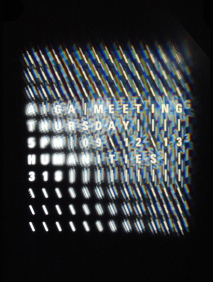 AIGA Meeting Poster 2 Cassie Hester © 2013  #cover #poster #font #graphic_design #typography #layout #design