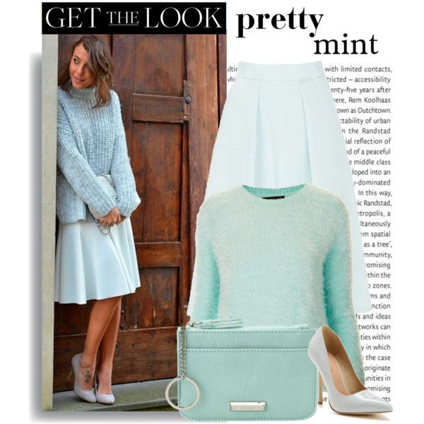 """""""Pretty Pastels: Mint"""" by jasminerb on Polyvore"""