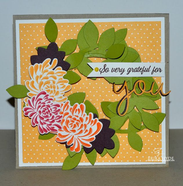 Lucky 7: Make It Monday #137. Papertrey Ink. Card. Mums the word, Turning a New Leaf