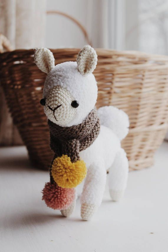 Alpaca Crochet Pattern Llama Amigurumi Pattern Cuddle Toy Ad My