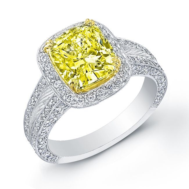 Yellow Canary Diamond Wedding Rings Board Pinterest Engagement And Weddings