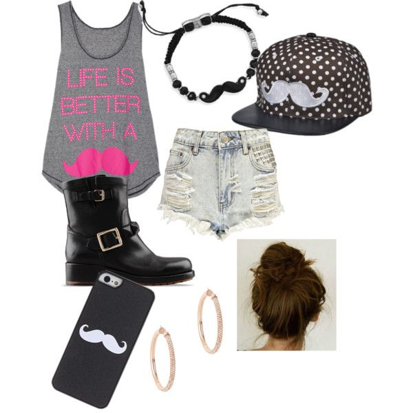"""""""Mustache all the way!"""" by kittycat2027 on Polyvore"""