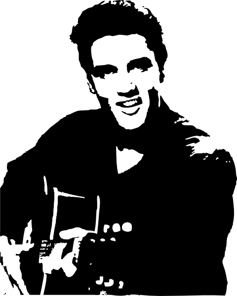 Elvis Clipart Png 480 600 Elvis Presley Silhouette Clip Art Silhouette Art