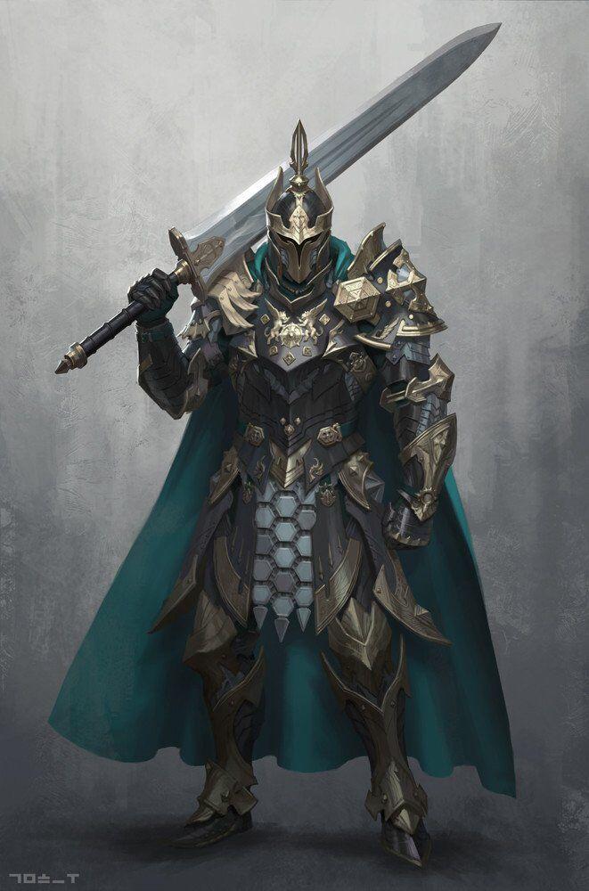 knight greatsword fantasy character pinterest