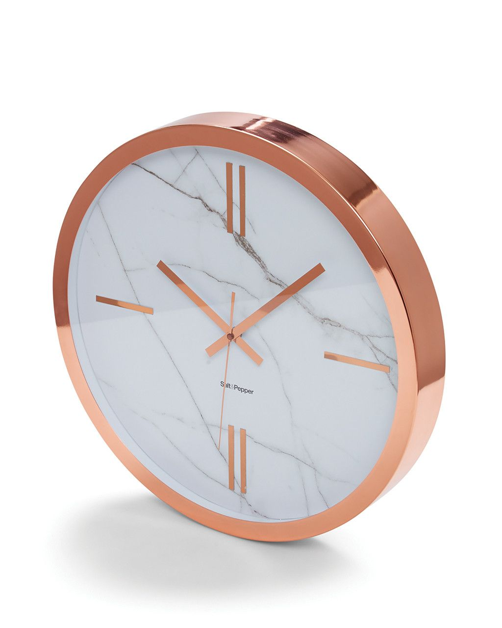 S Amp P Zone Rose Gold Clock 45cm Copper Gold Bedroom