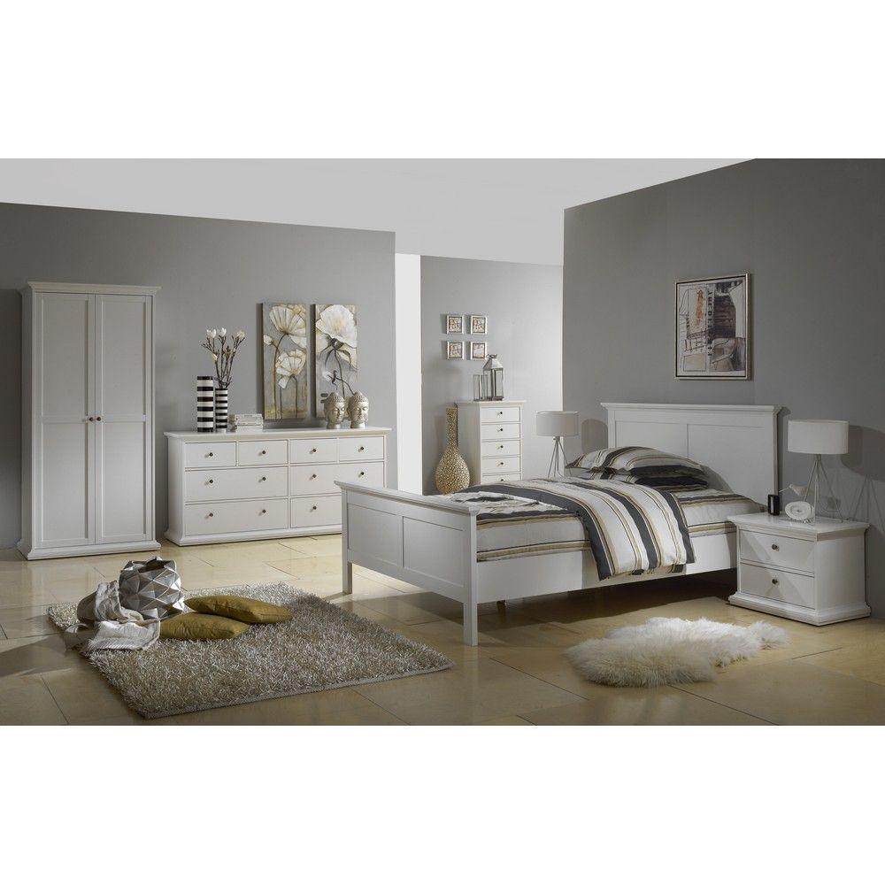 tvilum schlafzimmer paris kommode 8sk weiß günstig kaufen ... - Schlafzimmer Weis Gunstig