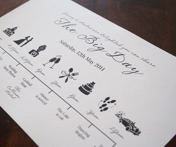 Customized Wedding Timeline Printable by cookiesandcreamshop, $9.00