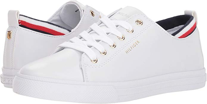 Tommy Hilfiger Women S Lou White Leather 8 5 M Us Fashion Sneakers Tommy Shoes Tommy Hilfiger Sneakers Tommy Hilfiger Women