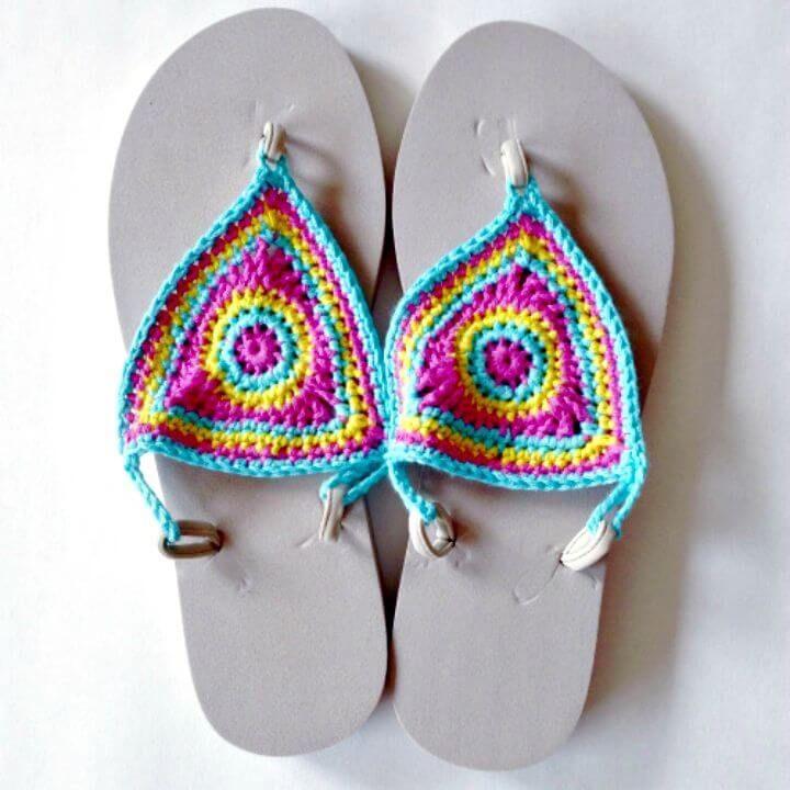 4171e30eb121e How to Make Bloom Flip Flops – Free Pattern - DIY Flip Flops -25 Ways to Refashion  Your Flip Flops - DIY   Crafts