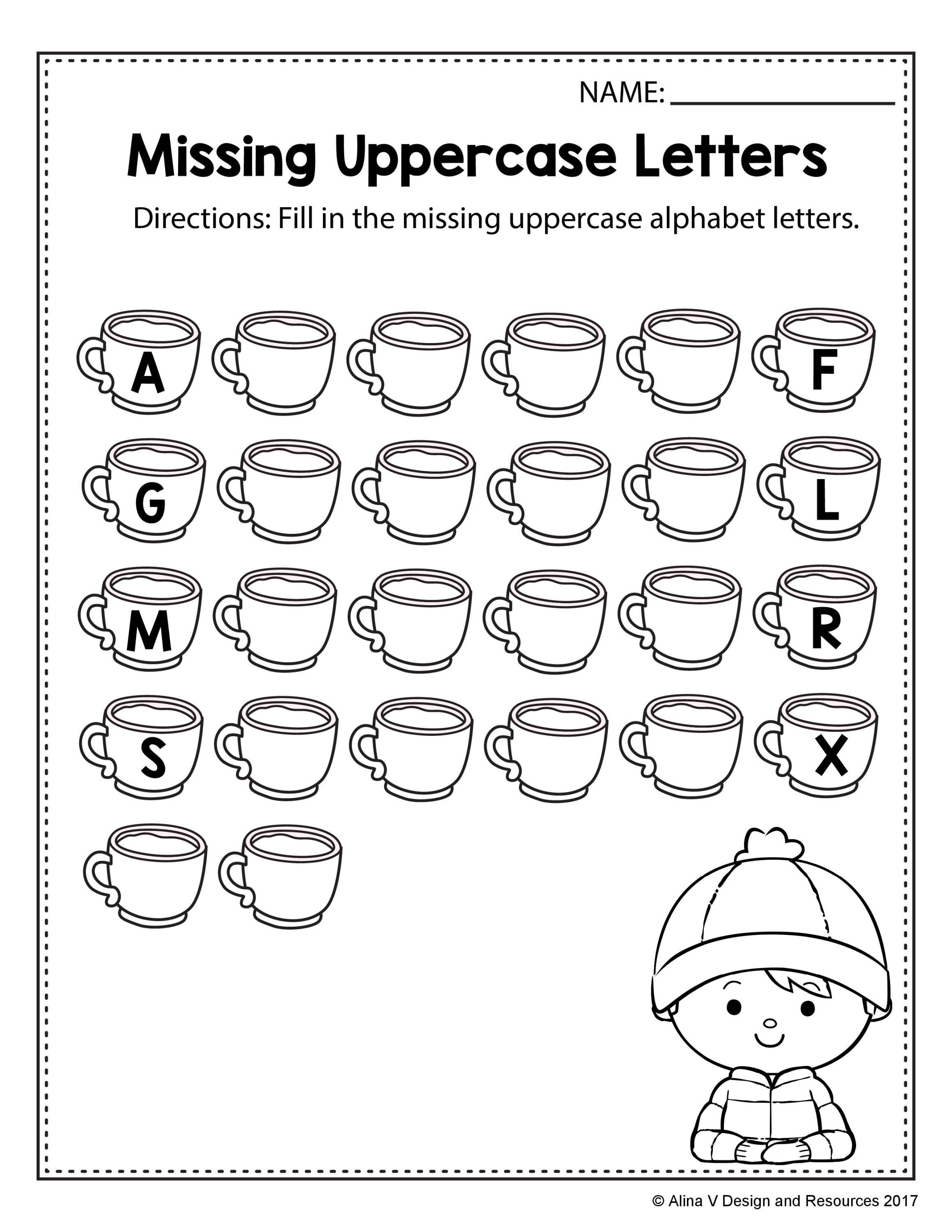 Cutting Letter Alphabet Worksheet