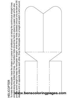 Paper Helicopter Activity Sheet Helicopter Craft Craft