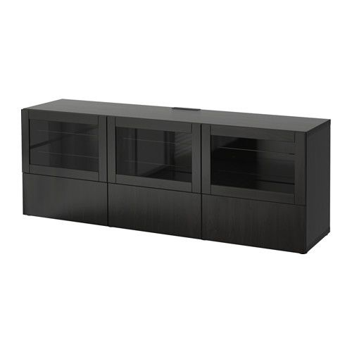Best Tv Bench With Doors And Drawers Lappvikensindvik Black