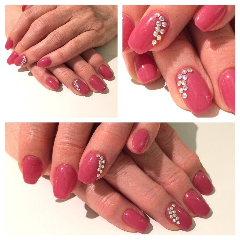 gelnails #nails #coffinnails #ballerina #shape #rainbowstones ...