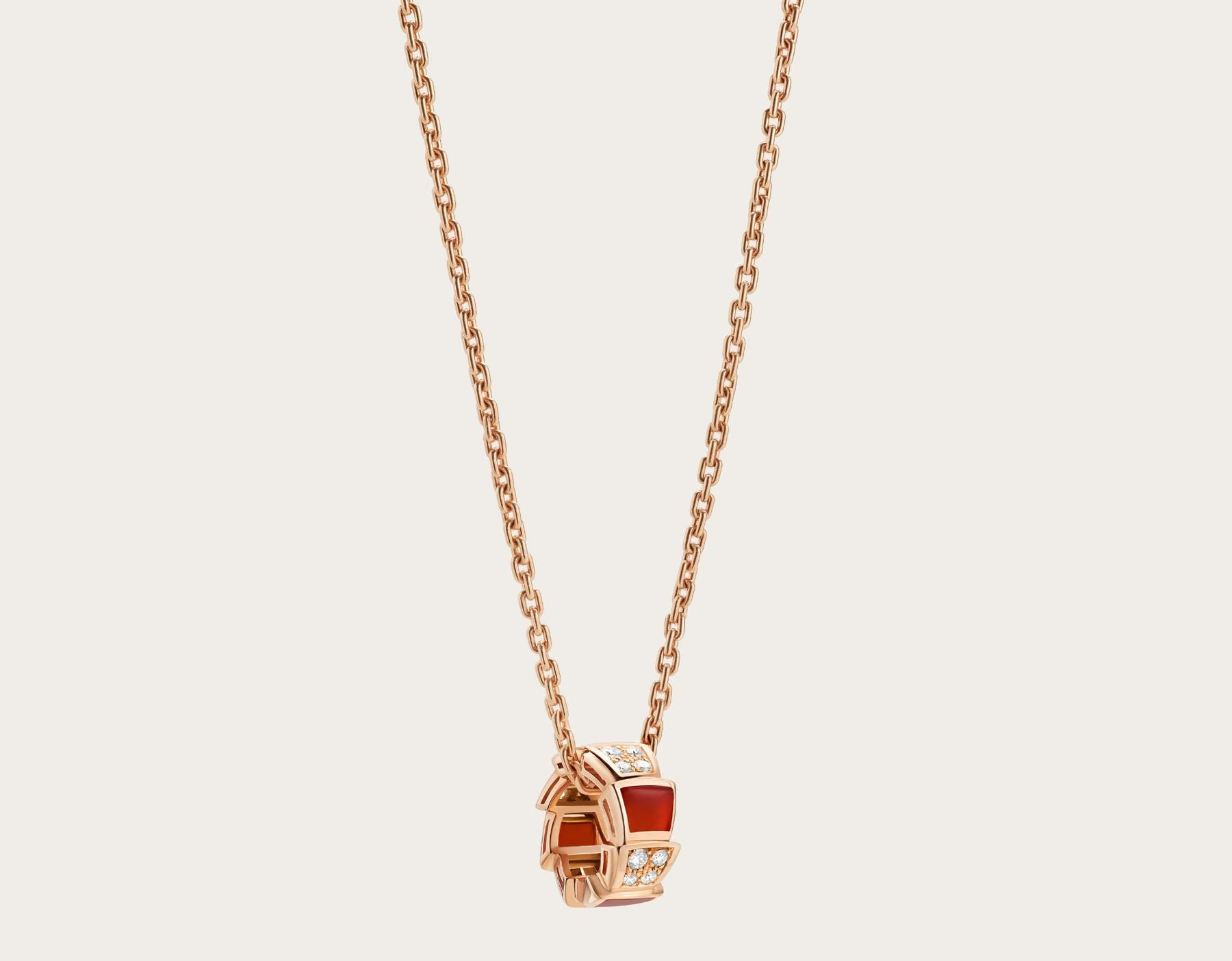 Photo number serpenti necklace with kt rose gold chain and
