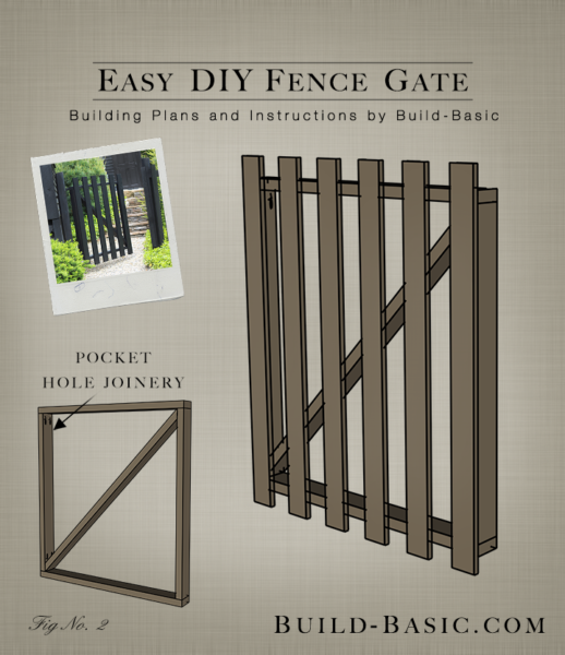 build an easy diy fence gate – building plans by @buildbasic www build-basic  com