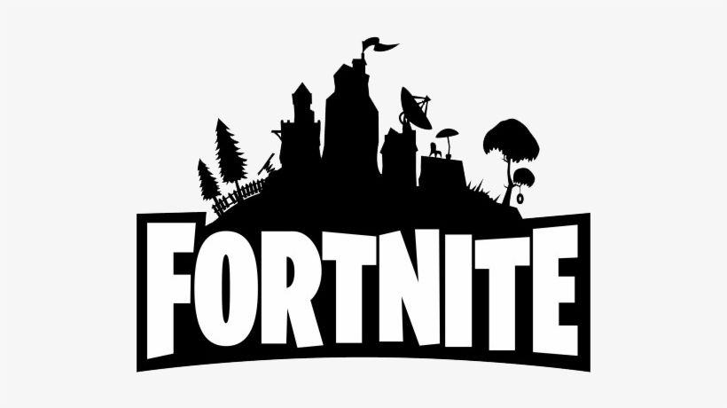 Download Fortnite Logo Png Fortnite Black And White Png Image