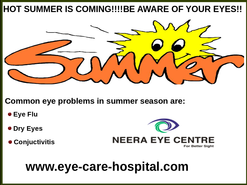 Hot Summer is Coming!!!Be Aware Of Your Eyes!!!