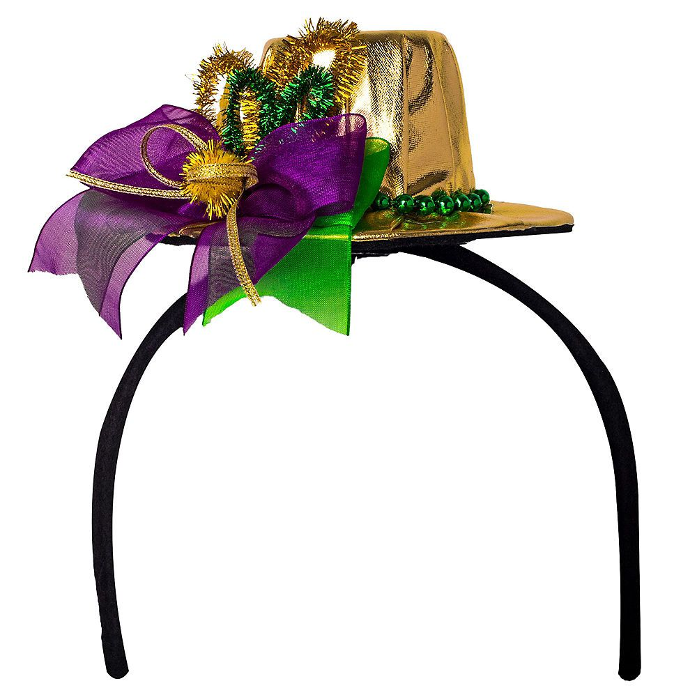 Mardi Gras Top Hat Headband Image  1 1813c8d2cd13