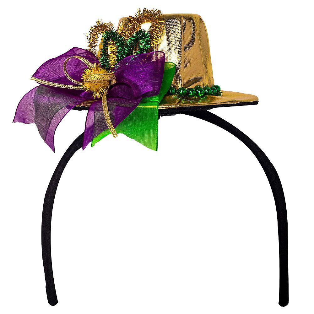 Mardi Gras Top Hat Headband Image 1 Mardi Gras Hats Mardi Gras Mardi Gras Crafts