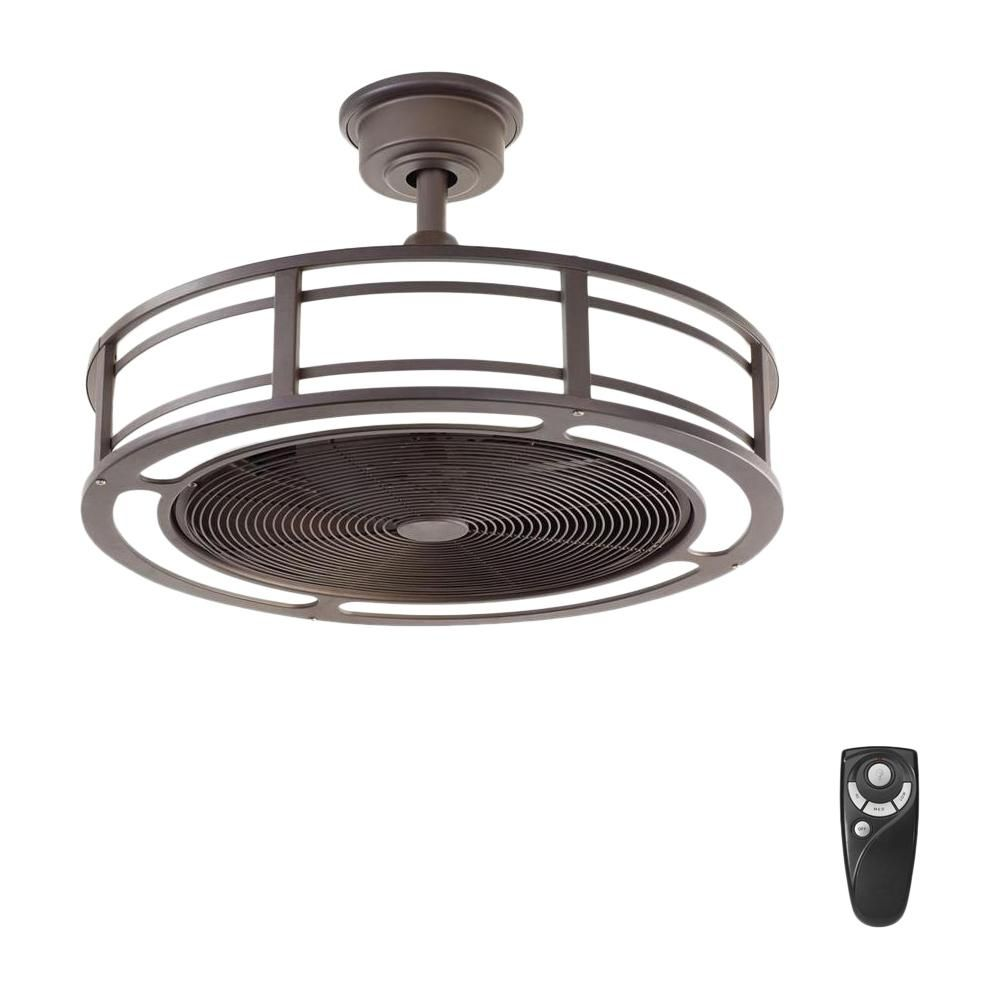 Home Decorators Collection Brette 23 In Led Indoor Outdoor Espresso Bronze Ceiling Fan With Light Kit With Remote Control Am382a Orb The Home Depot Bronze Ceiling Fan Ceiling Fan With Light Brushed