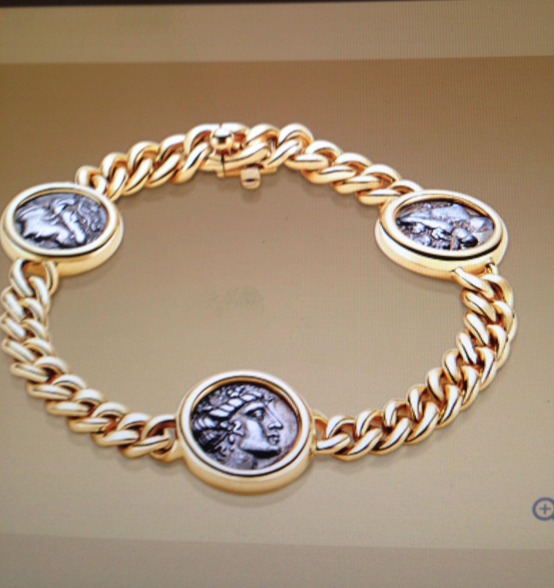 bulgari monete gold platinum ancient coin necklace
