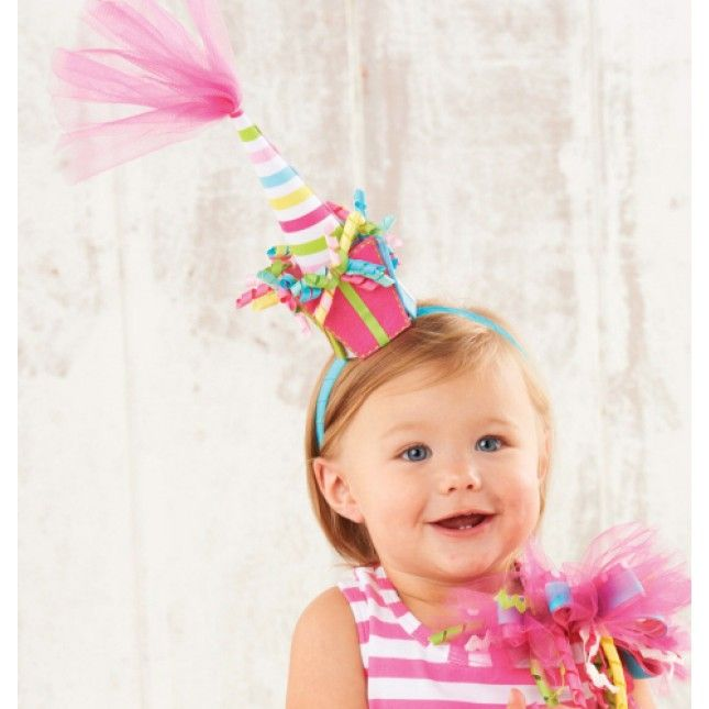 00c14f98982 Tulle Birthday Hat Headband by Mud Pie
