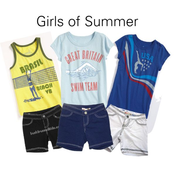 Girls of Summer, created by sharonchoksi on Polyvore