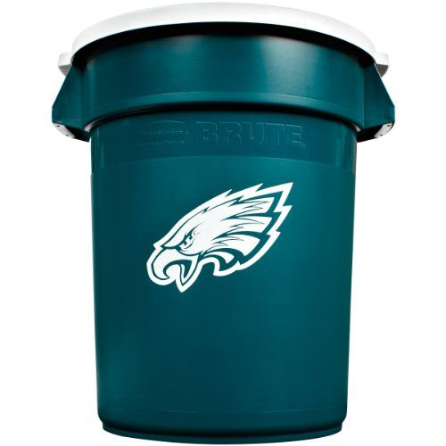 36 Qt Large Open Wastebasket Magnificent Philadelphia Eagles  Rubbermaid Commercial Team Brute 32Gallon Decorating Design