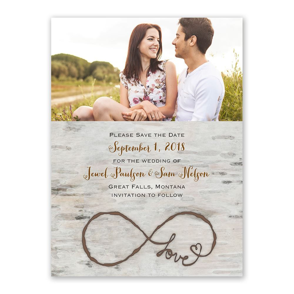 Love for Infinity - Save the Date Card | Pinterest | Watercolor ...