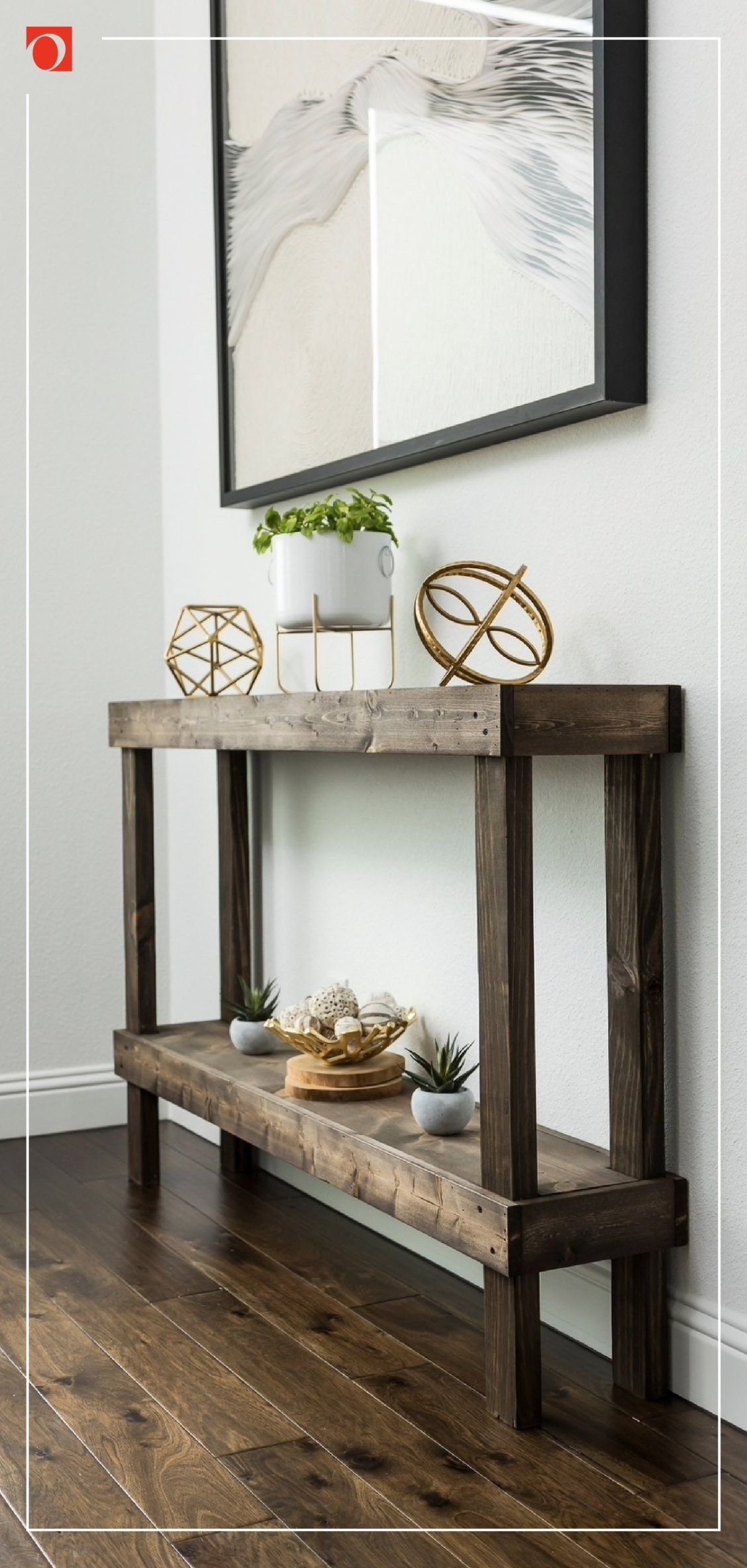 Handmade Del Hutson Designs Rustic Luxe Large Wooden Sofa Table In