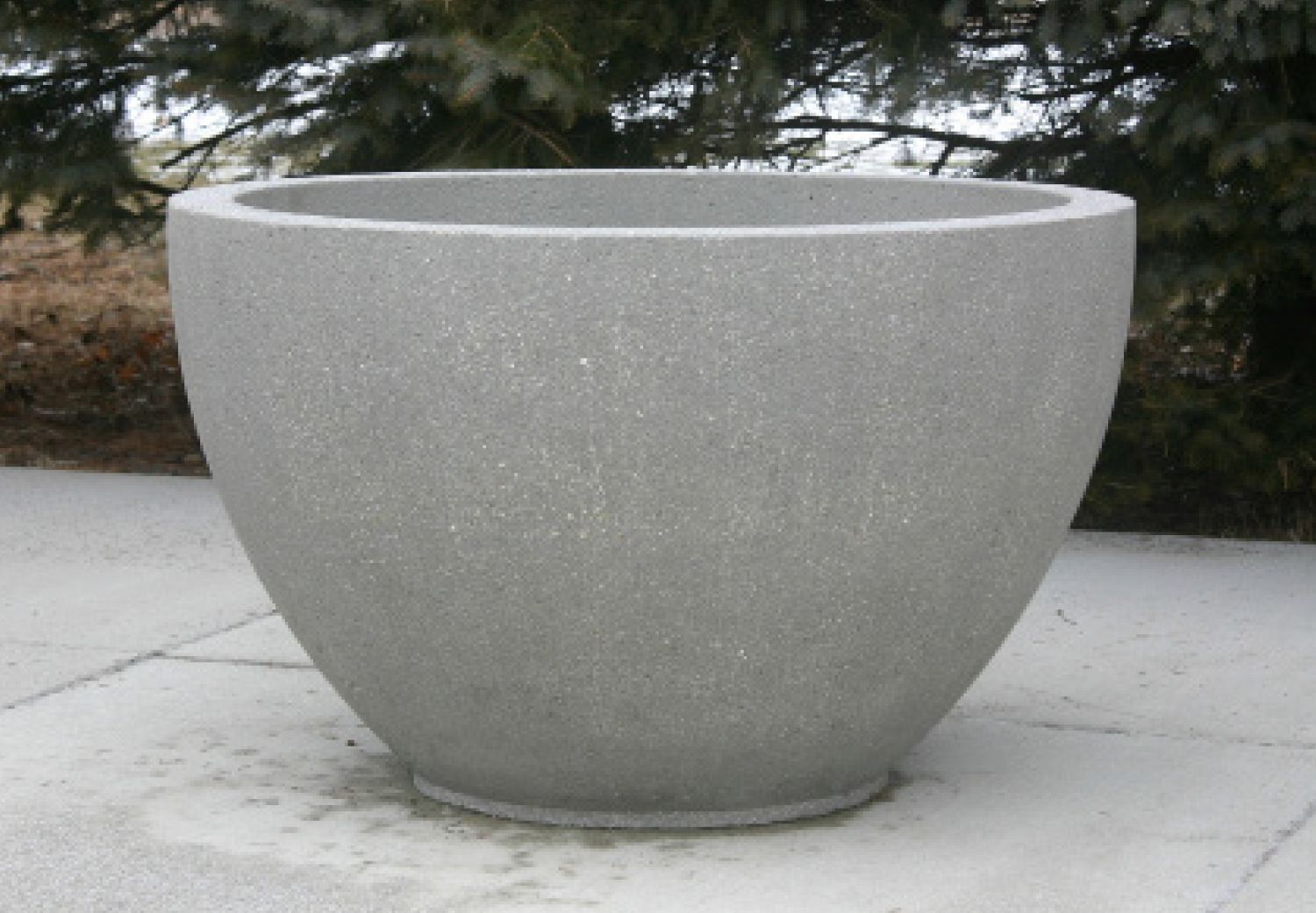 Modern Cement Planters Doty And Son 39s New Large Concrete Bowl Planter Concrete