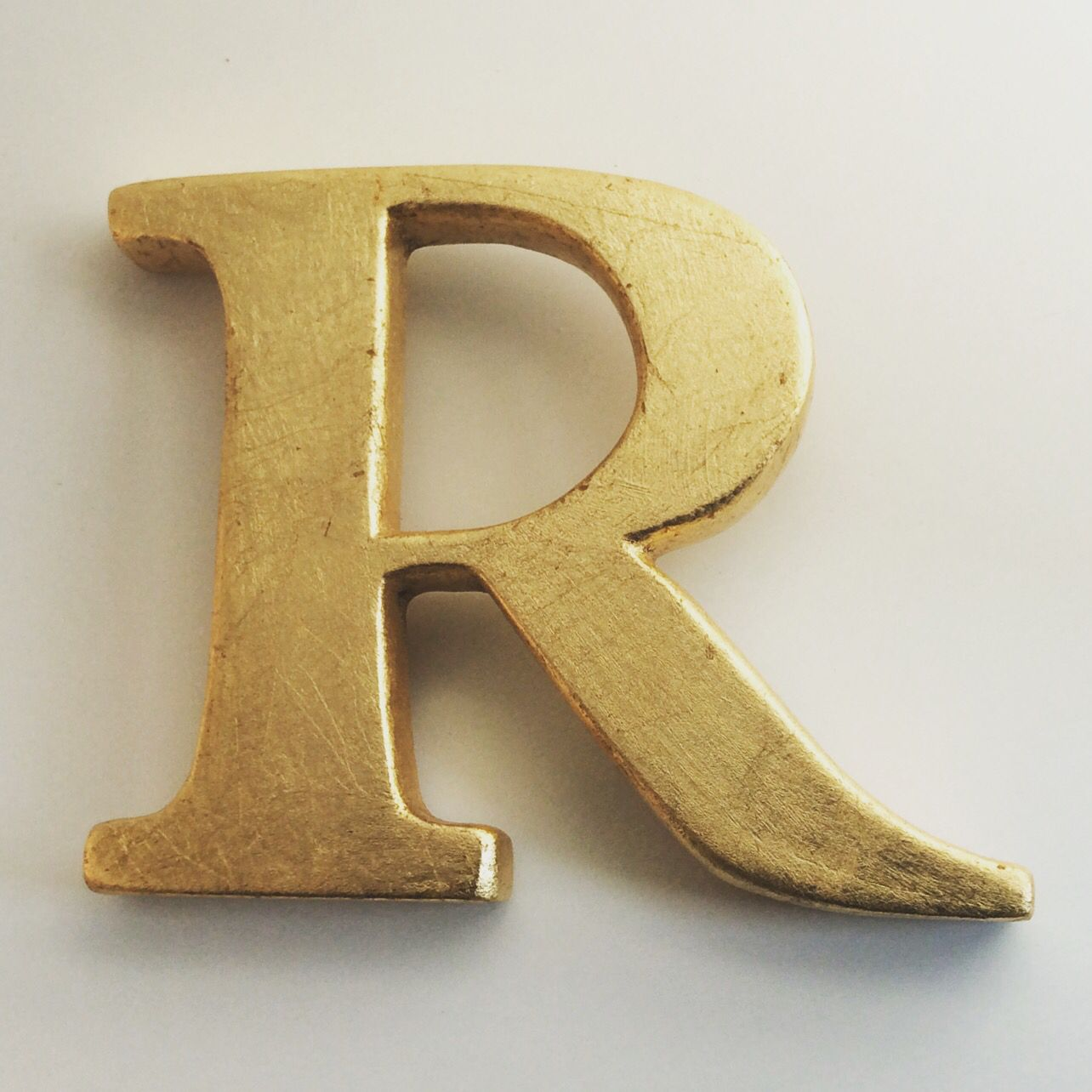 Gold Letter Wall Decor | Wall Plate Design Ideas