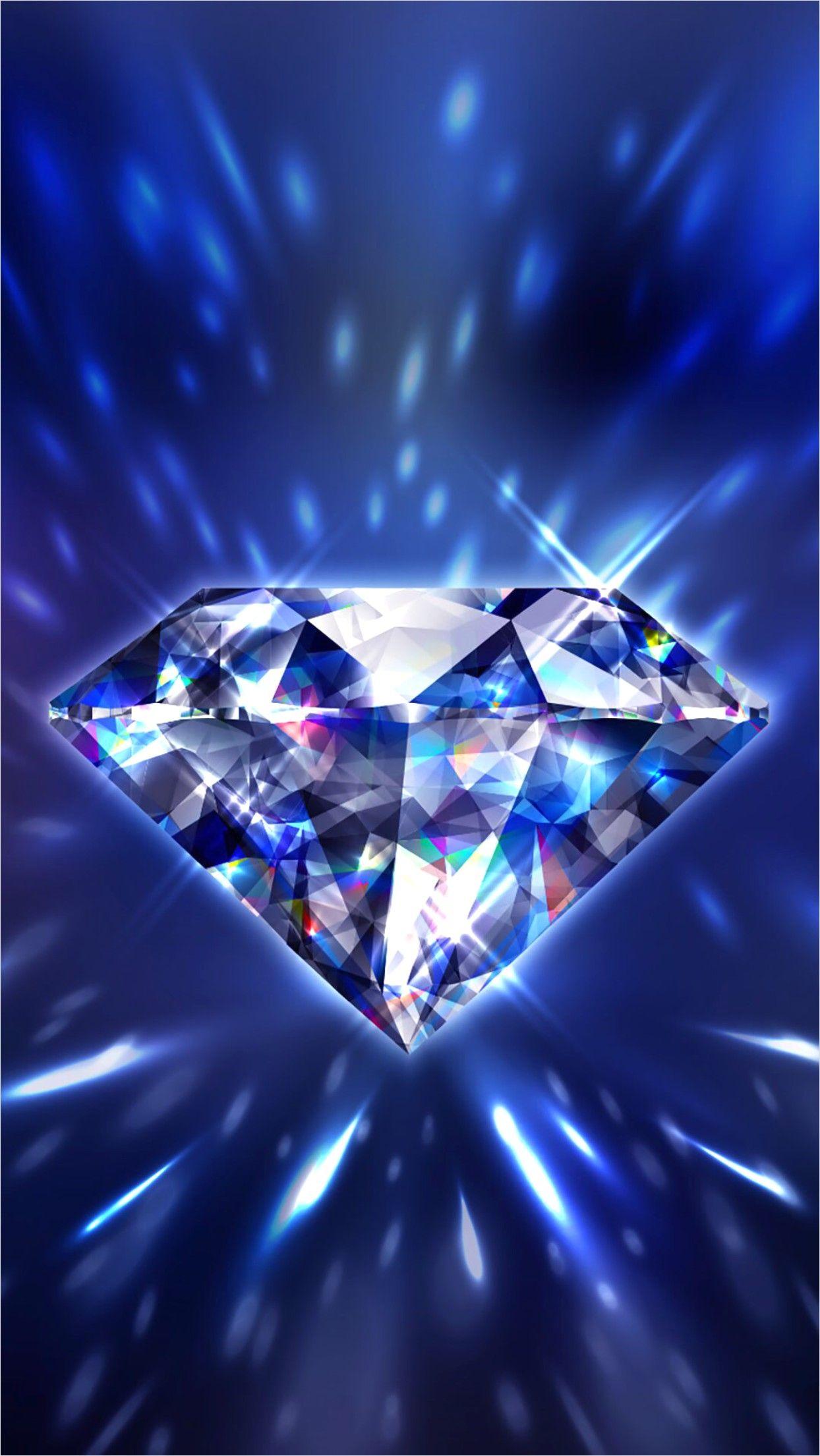 4k Blue Diamond Su Wallpaper Diamond Wallpaper Iphone Diamond Wallpaper Blue Diamond