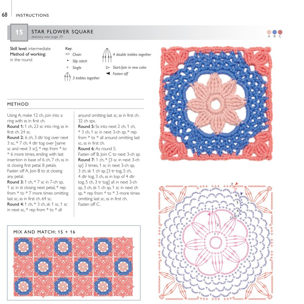 75 Floral Blocks to Crochet | Betty Barnden | Macmillan