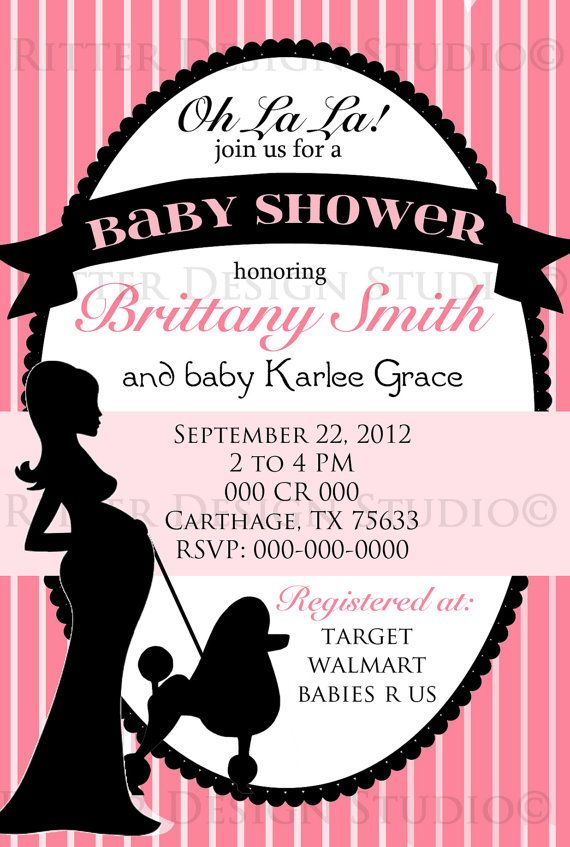 Paris Themed Chic Baby Shower Invitation By Ritterdesignstudio 15 00