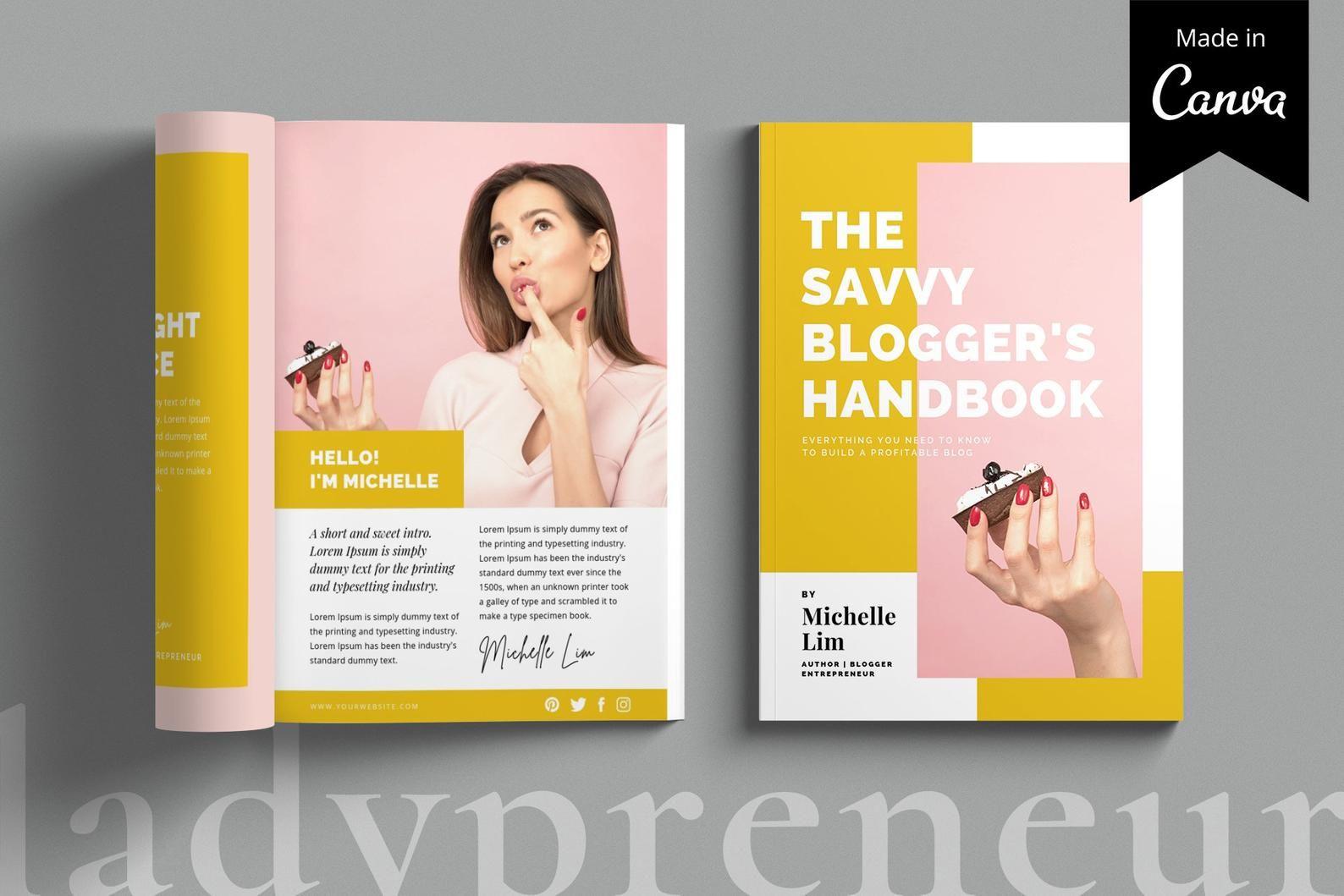 Ebook Template Canva Template Blogger Template Magazine Etsy Ebook Template Magazine Template Ebook