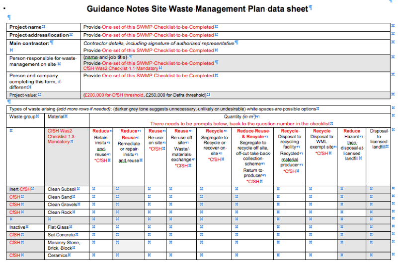 waste management strategy template - swmp site waste management plan workshops jabar pinterest