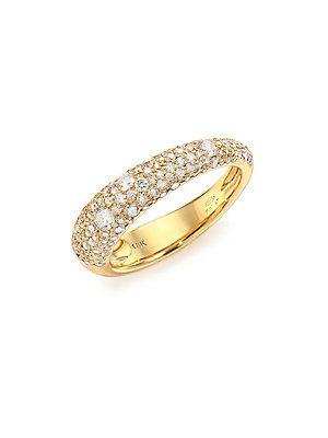 Kwiat Cobblestone Diamond & 18K Yellow Gold Band Ring - Gold